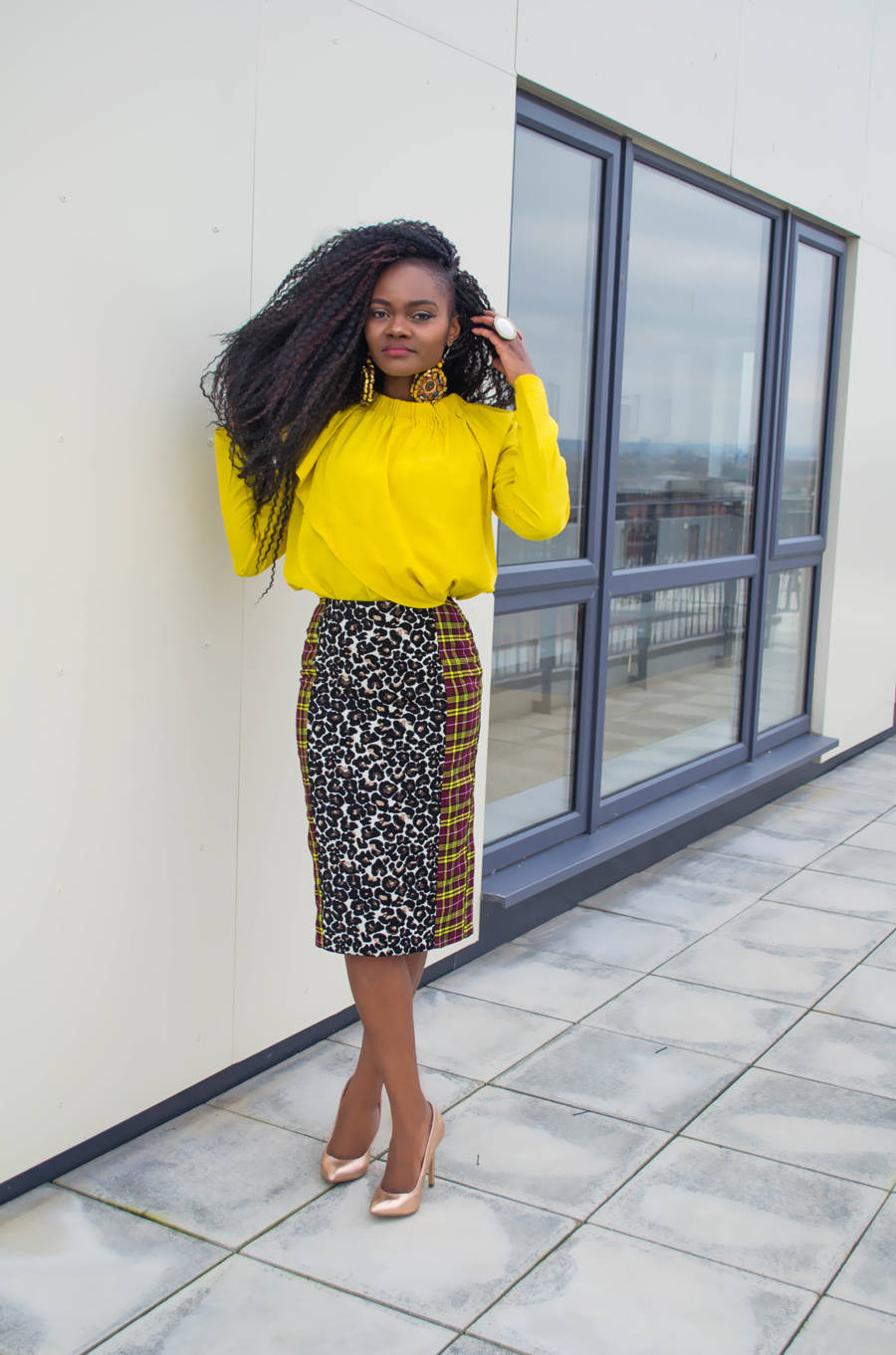 Yellow and prints by Mode By Cece