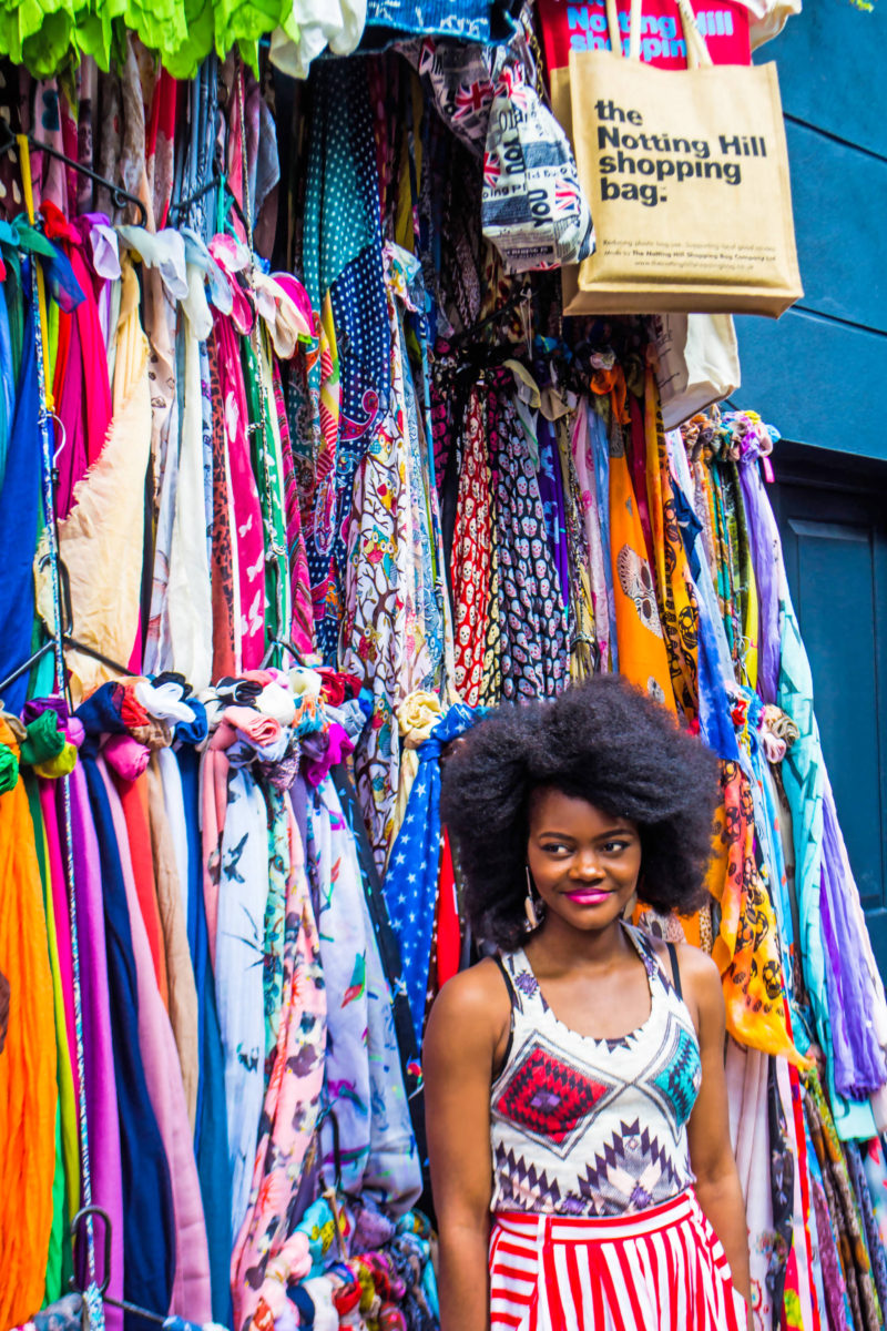 Notting Hill Portobello Market Afro blogger London stylist